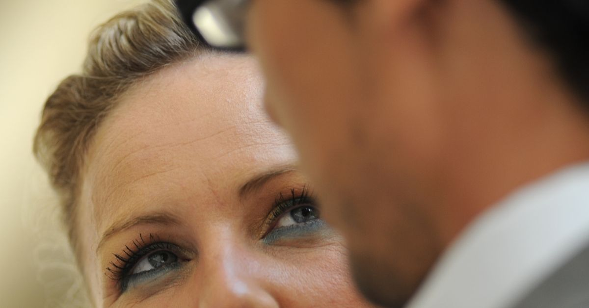 Woman looking at her partner exhibiting narcissism